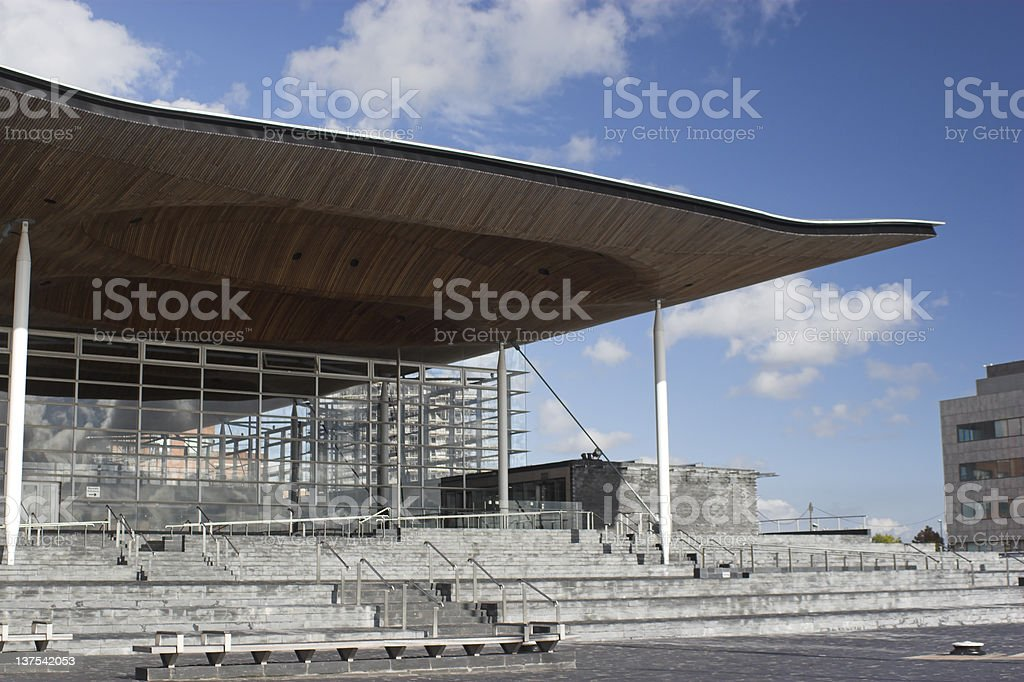 Senedd - Welsh National Assembly Building stock photo