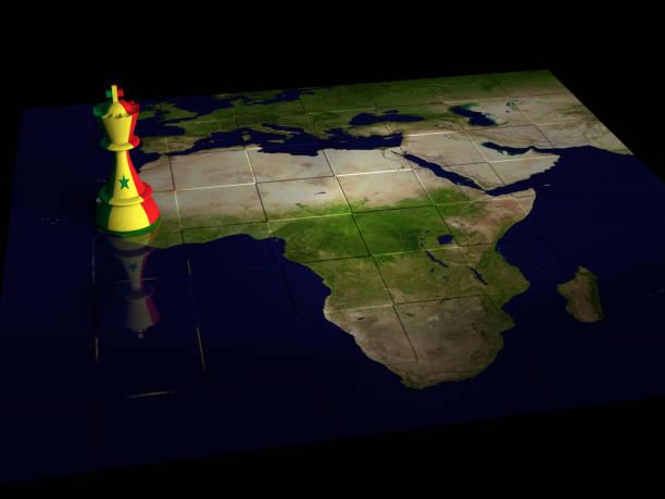 Mapa de xadrez do Senegal - foto de acervo