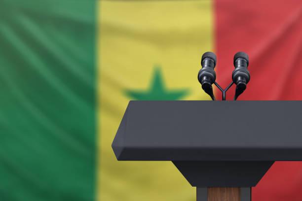 senegal-flagge - senegal news stock-fotos und bilder