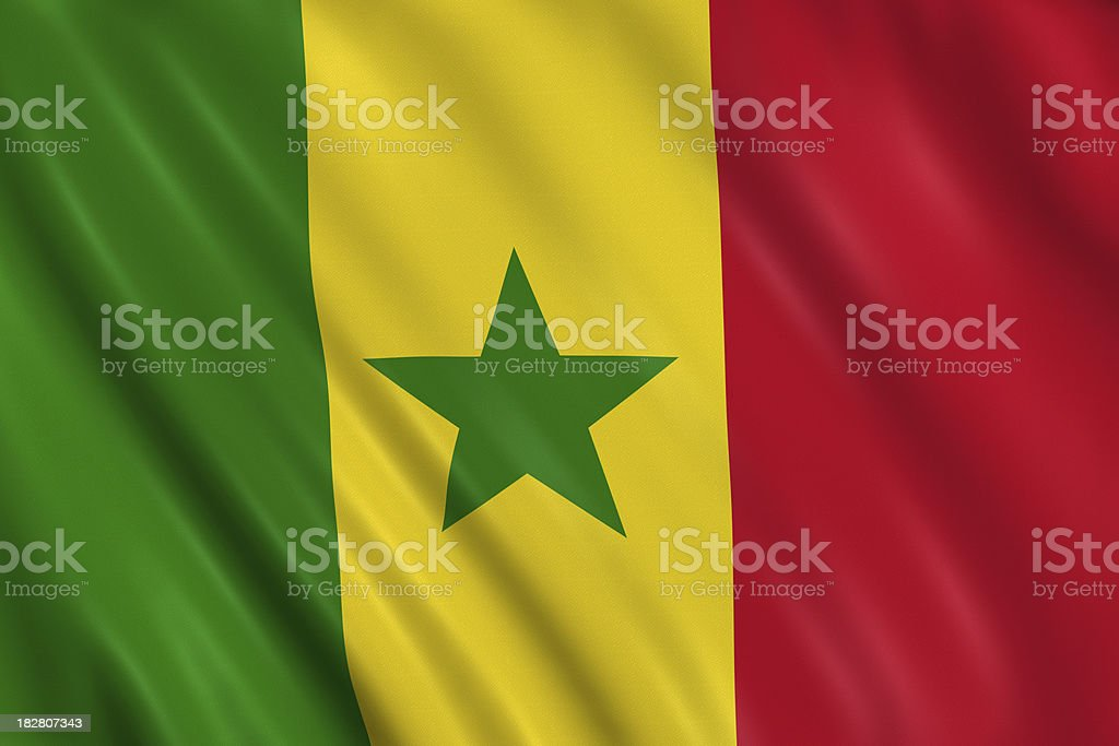 senegal flag royalty-free stock photo