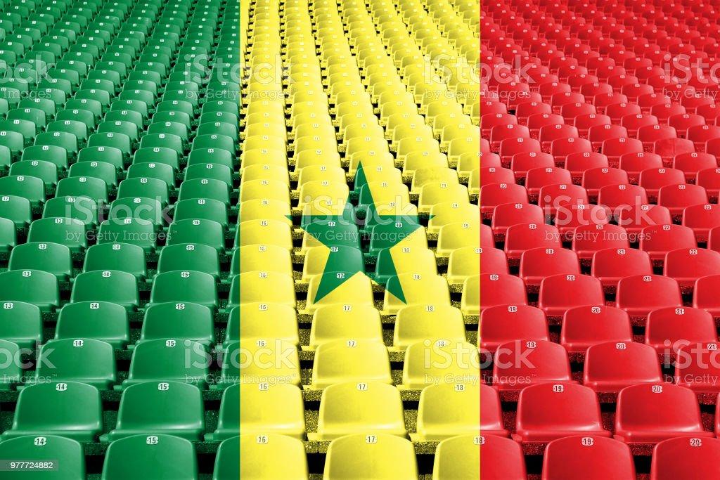 Assentos do estádio Senegal bandeira - foto de acervo