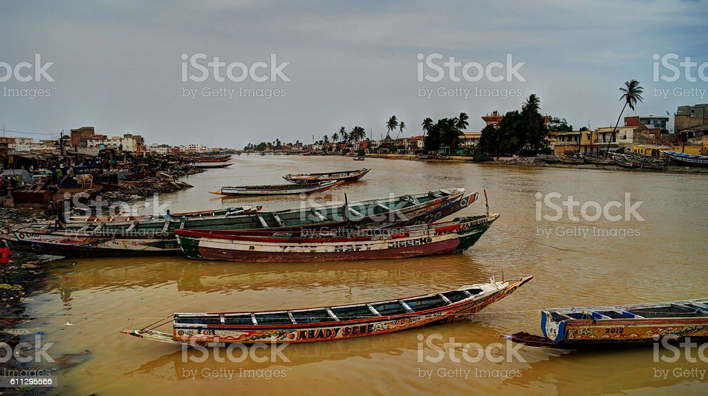 Senegal river, Saint-Louis stock photo