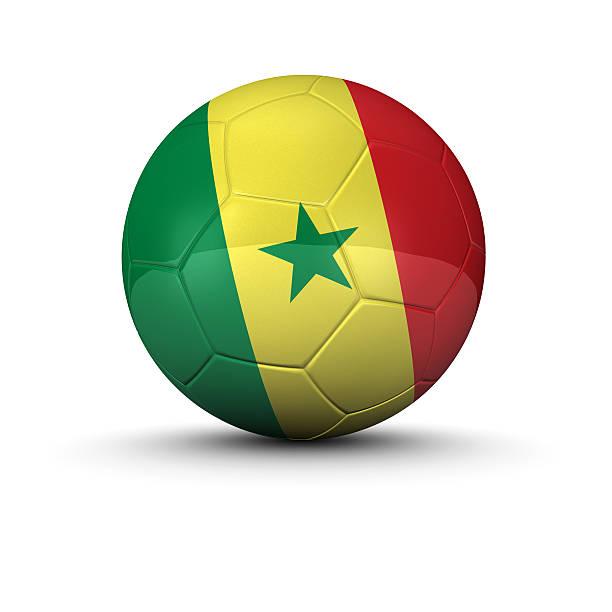 Senegal bola de futebol - foto de acervo