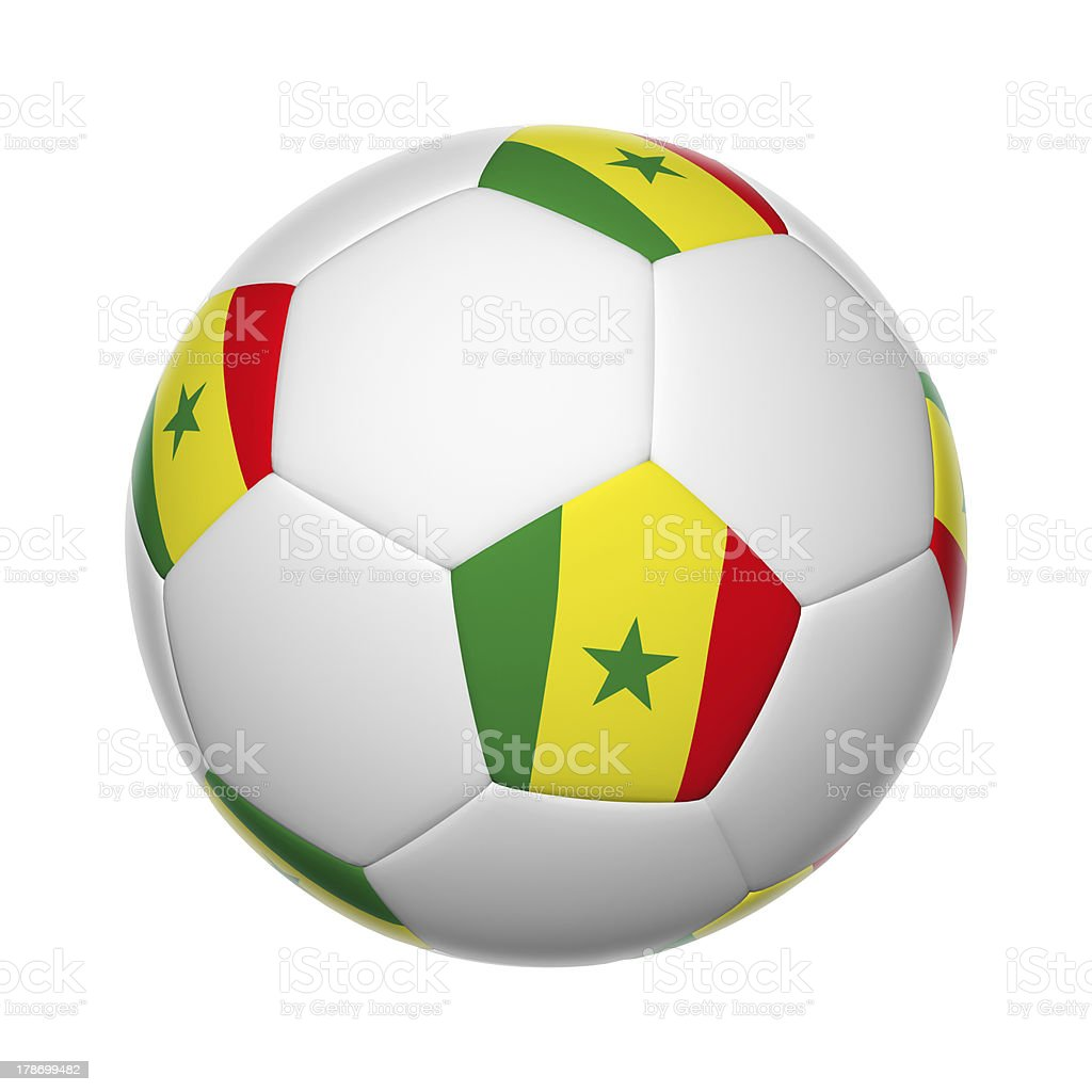 Senegal soccer ball stock photo