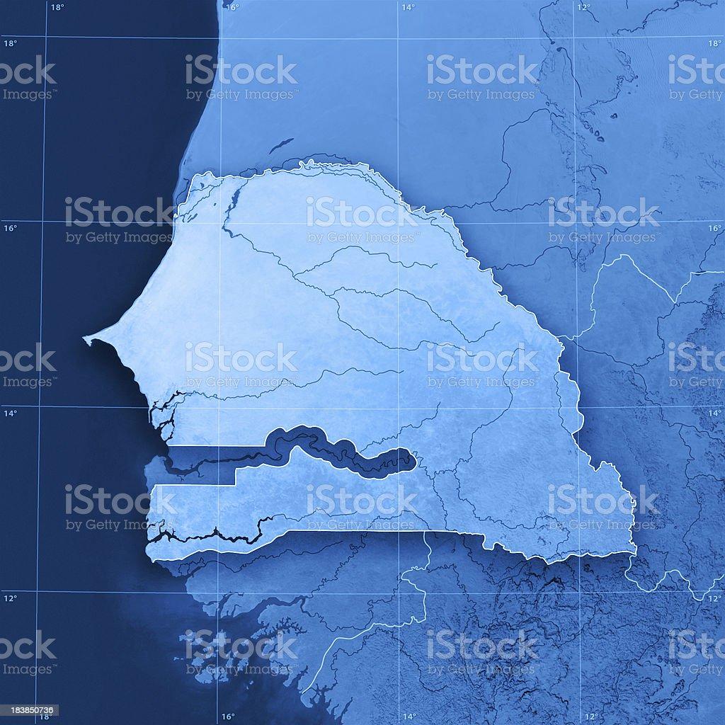 Senegal Topographic Map royalty-free stock photo