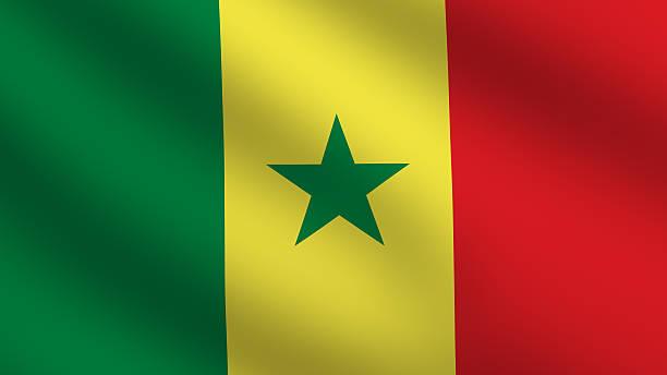 Bandeira do Senegal - foto de acervo