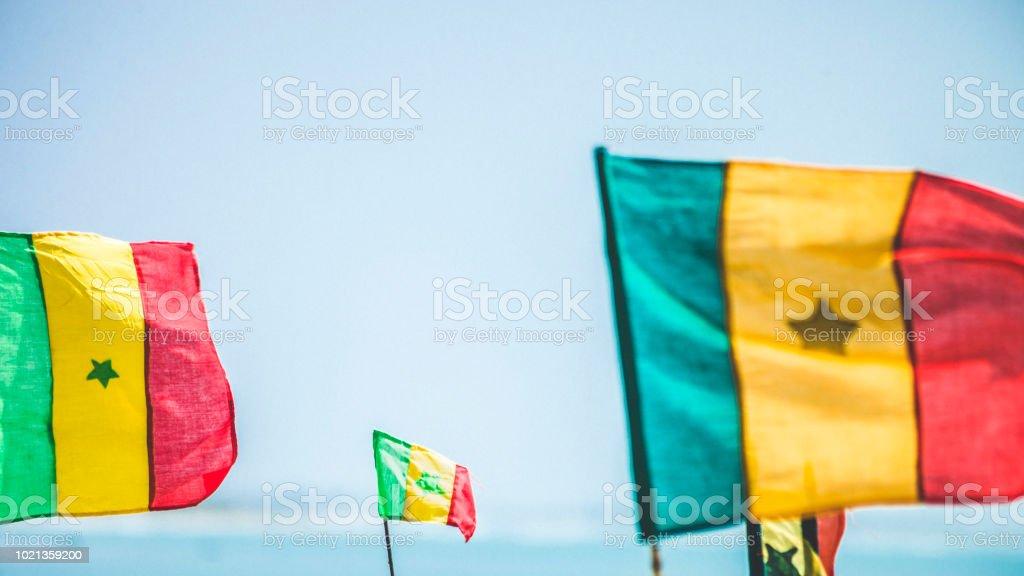 Senegalês sinalizadores na praia - África Ocidental - foto de acervo