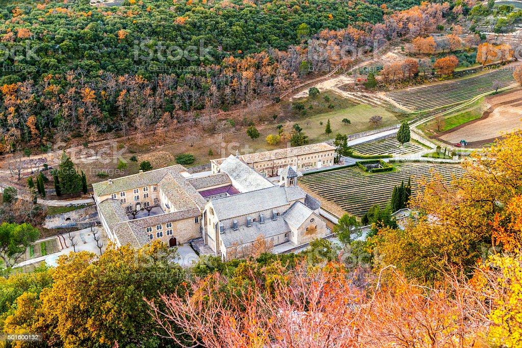 Senenque Abbey stock photo