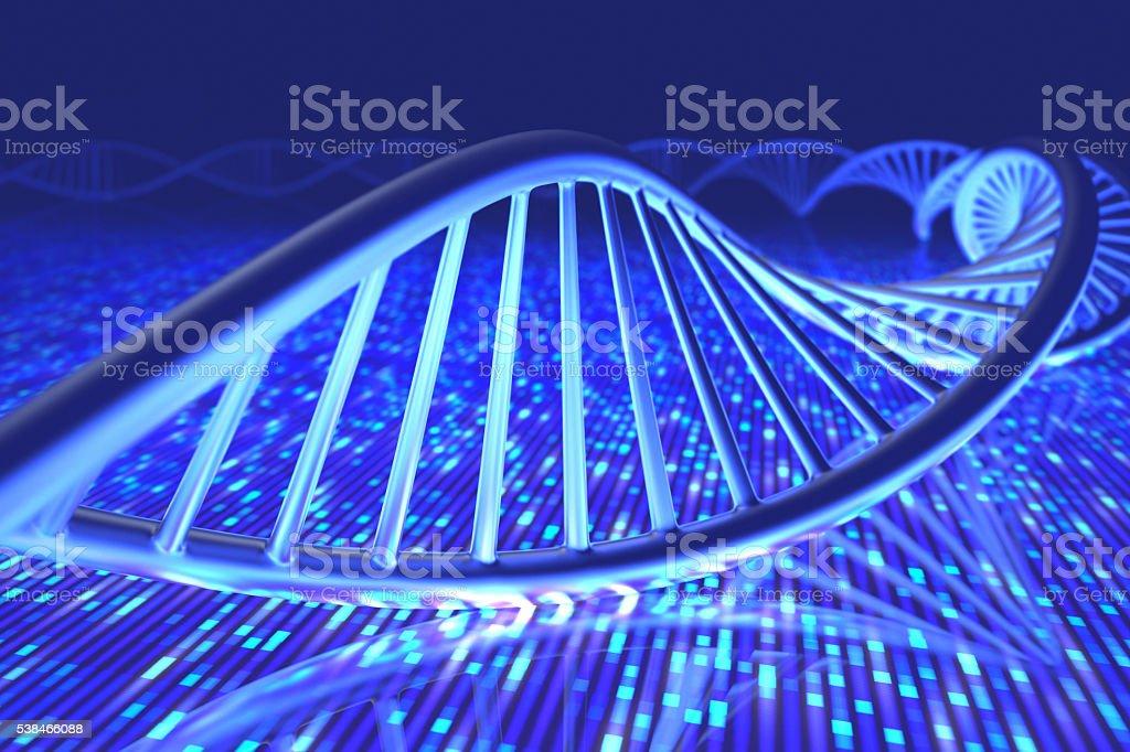 DNA Senger Sequence stock photo