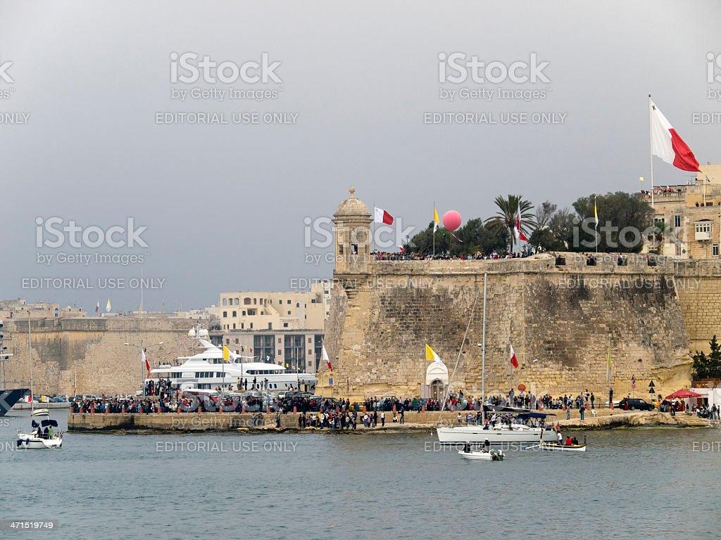 Senglea Point stock photo