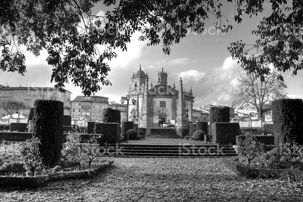 Senhor da Cruz church, Barcelos stock photo