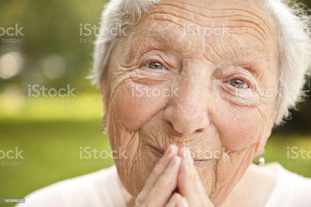 Senior 85 years stock photo