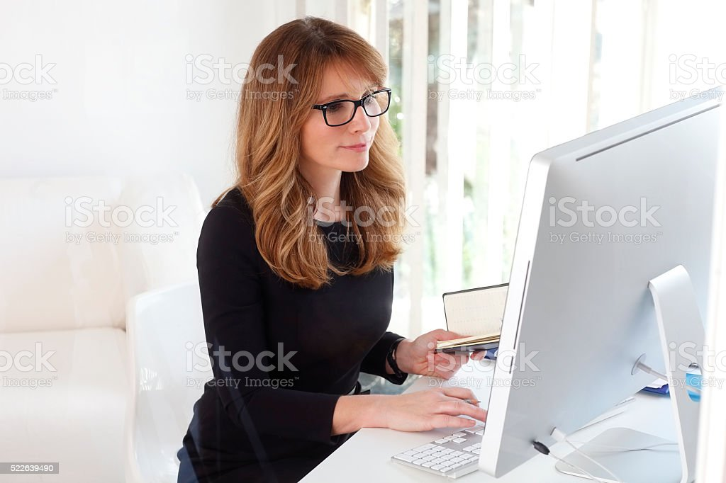 Senior account executive stock photo
