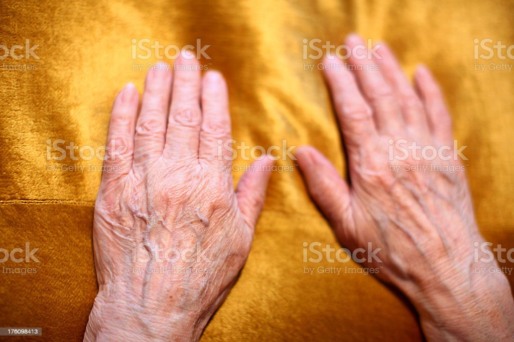 Senior Adult Hands royalty-free stock photo