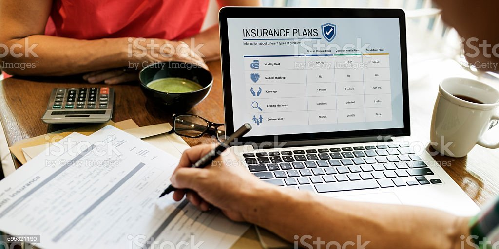 Senior Adult Life Insurance Healthcare Concept stock photo