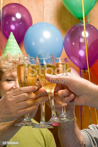 Senior adults at a party