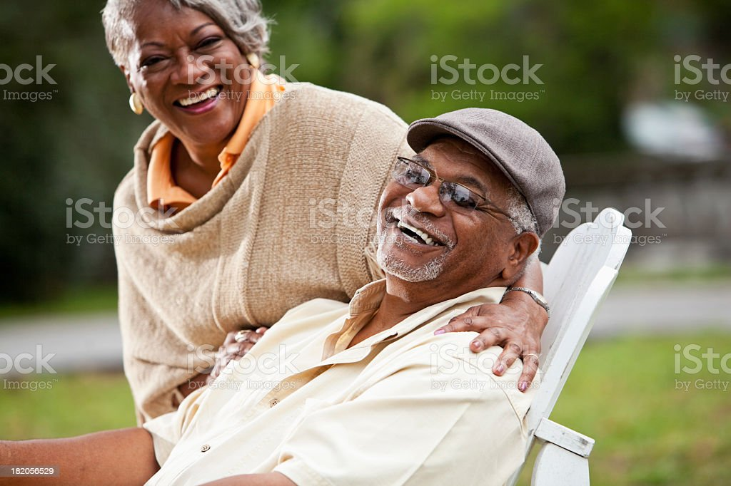 Senior African American couple stock photo