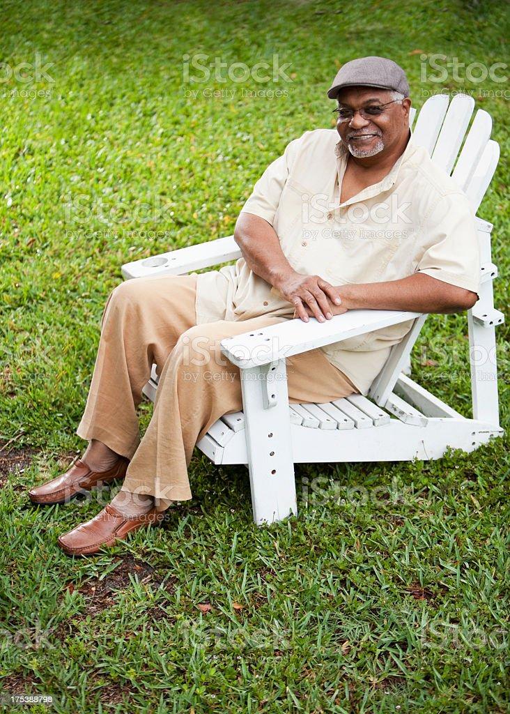 Senior African American man royalty-free stock photo