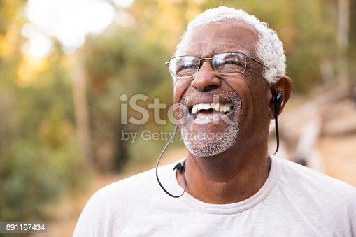 istock Senior African American Man Smiling During Workout 891167434