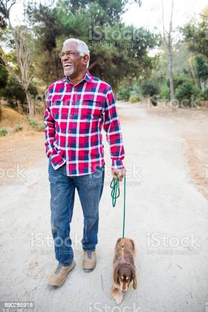 Senior african american man walking his dog picture id890285918?b=1&k=6&m=890285918&s=612x612&h=yu6vtgc owubdarkuvmrwrmtdybwfimd3gtatiyx tc=