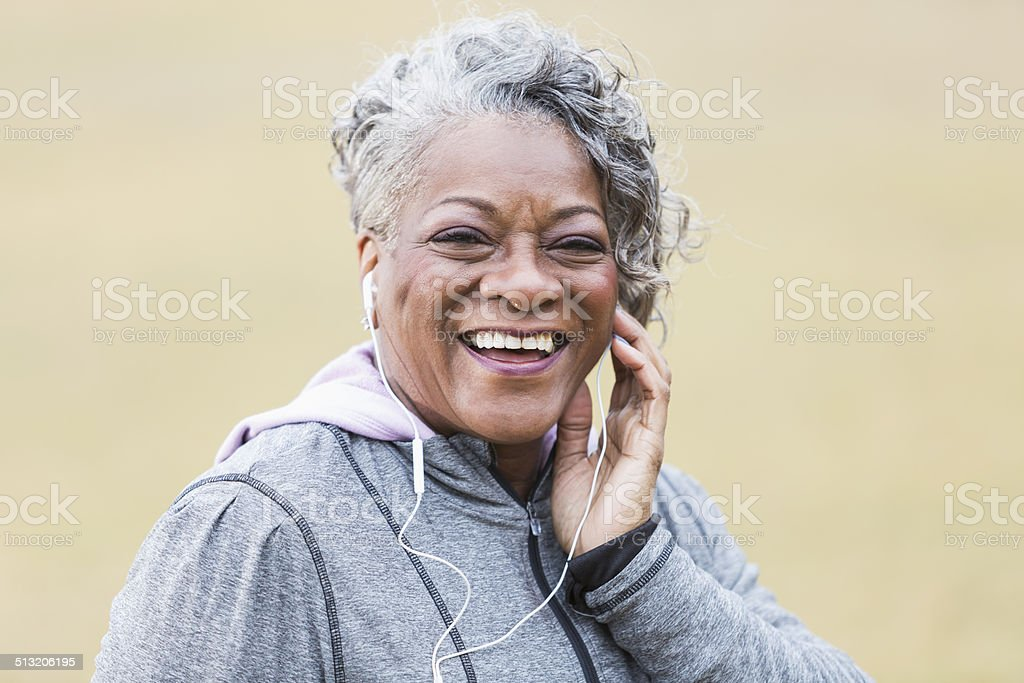 Senior African American woman stock photo