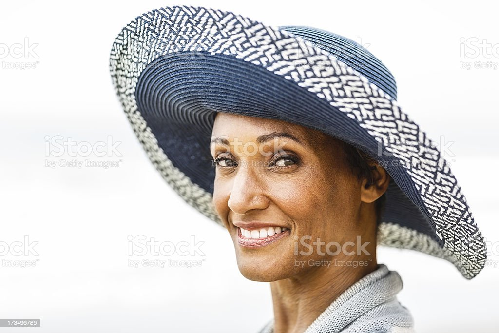Senior African American woman portrait royalty-free stock photo