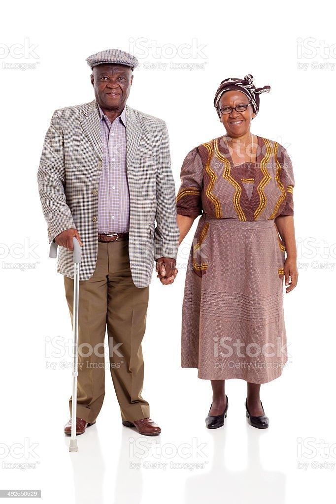 senior pareja africana - foto de stock