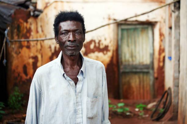 senior african man stock photo