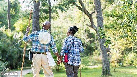 istock Senior African-American couple hiking, exploring 1001012226