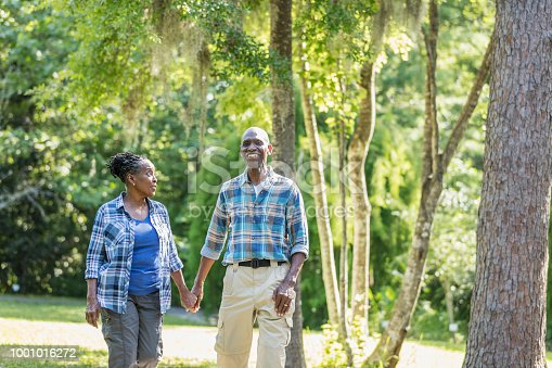 istock Senior African-American couple hiking, exploring 1001016272