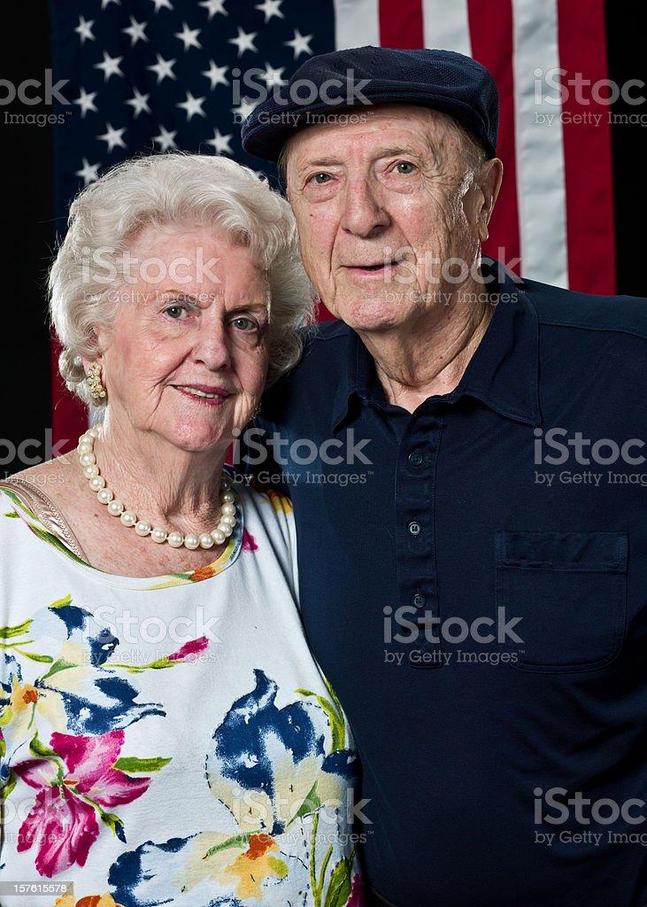 Senior american couple royalty-free stock photo