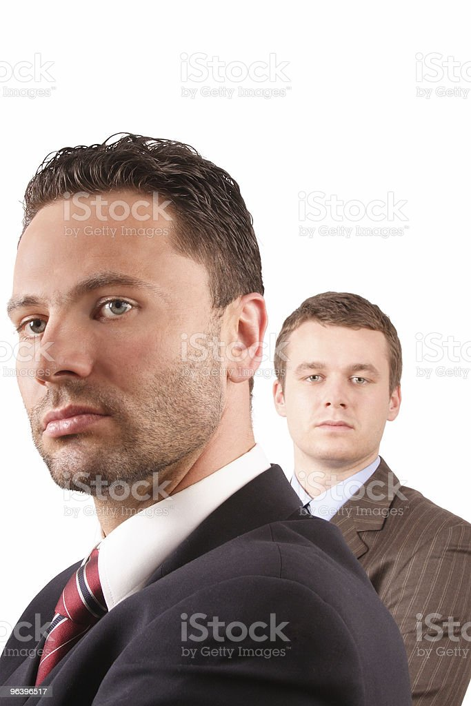 Senior and junior businessmen - Royalty-free Adult Stock Photo