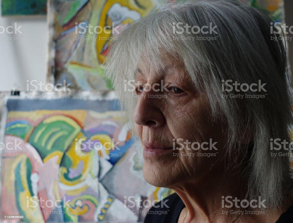 Seniorenporträt – Foto