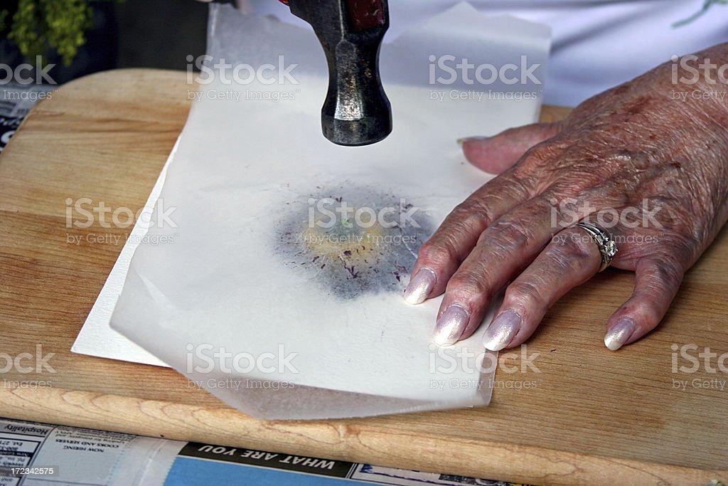Senior Arts and Crafts royalty-free stock photo