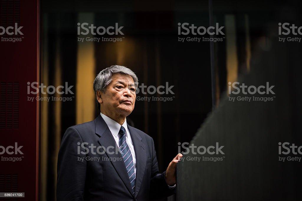 Senior Asian business executive royalty-free stock photo