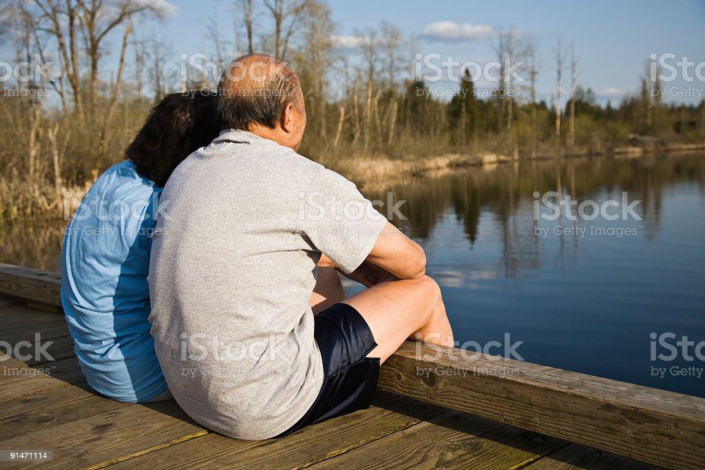 Senior asian couple royalty-free stock photo