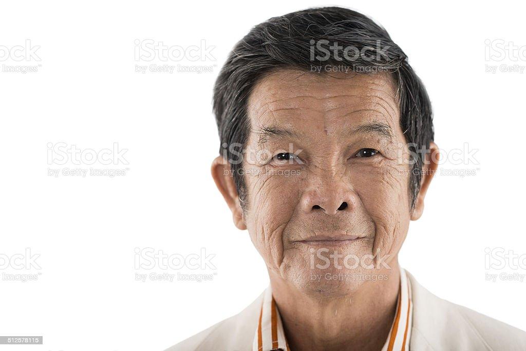 Senior Asian man stock photo