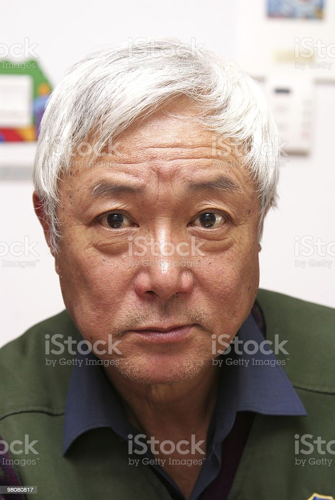 Senior Asian man royalty-free stock photo