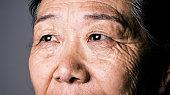 Senior asian woman eye