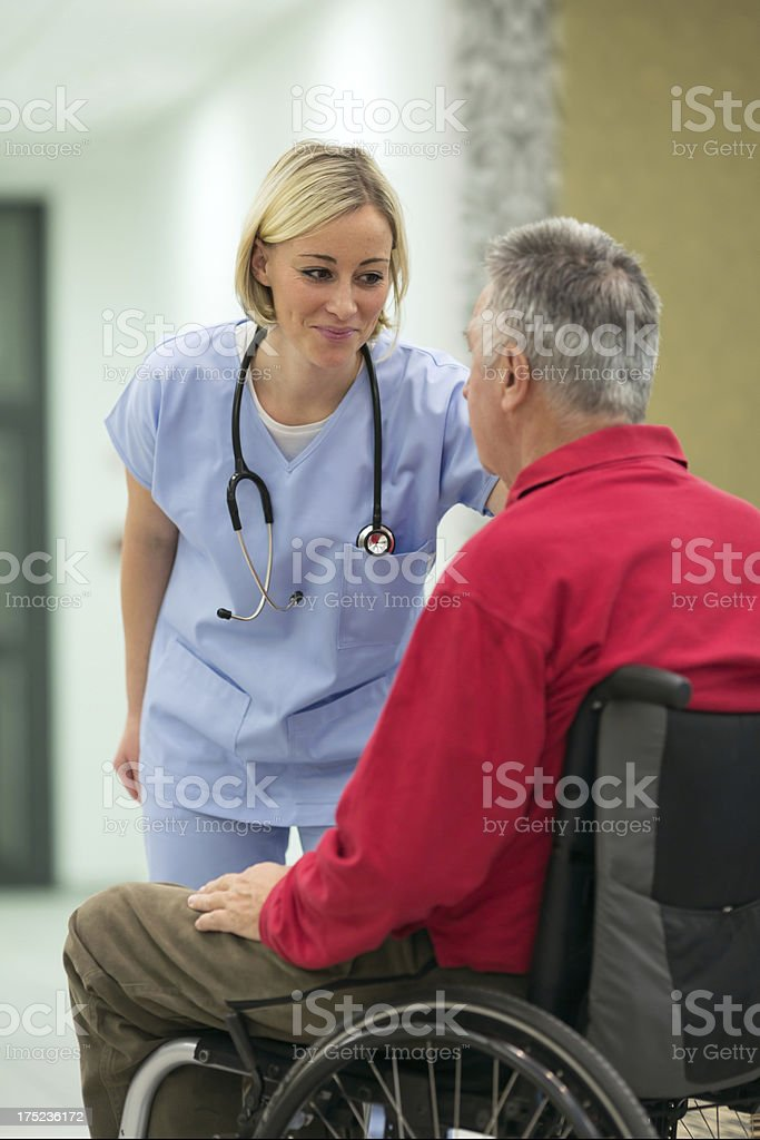 Senior at doctor's office royalty-free stock photo