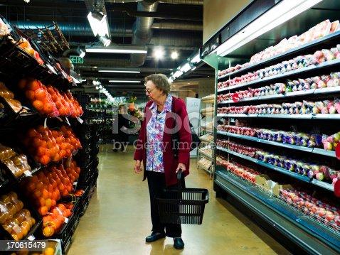 istock Senior at the supermarket 170615479