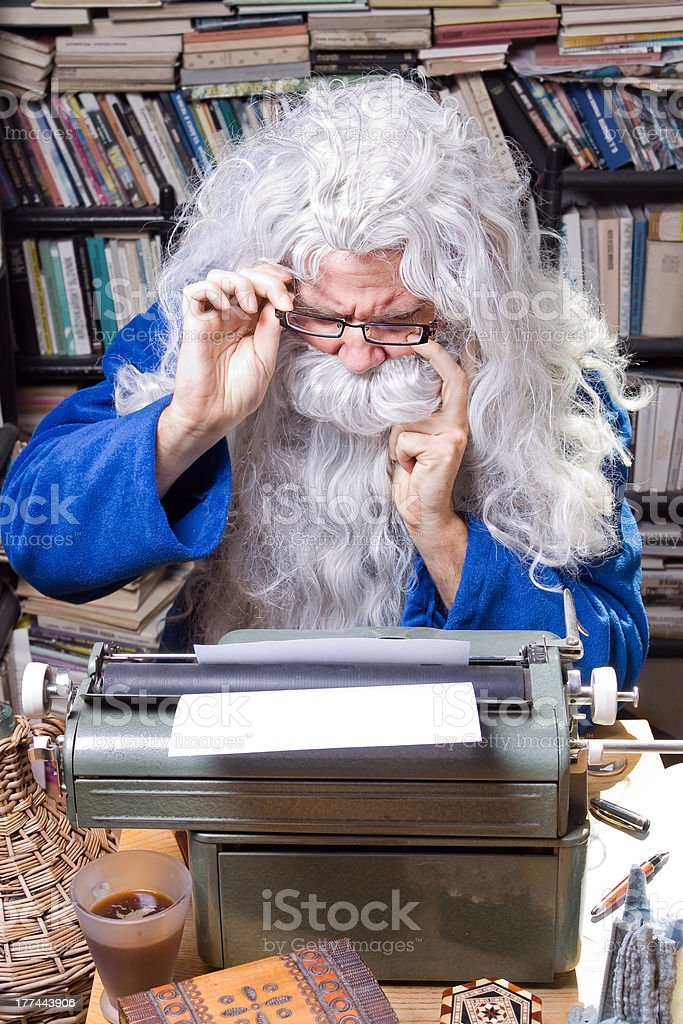 Senior author stock photo