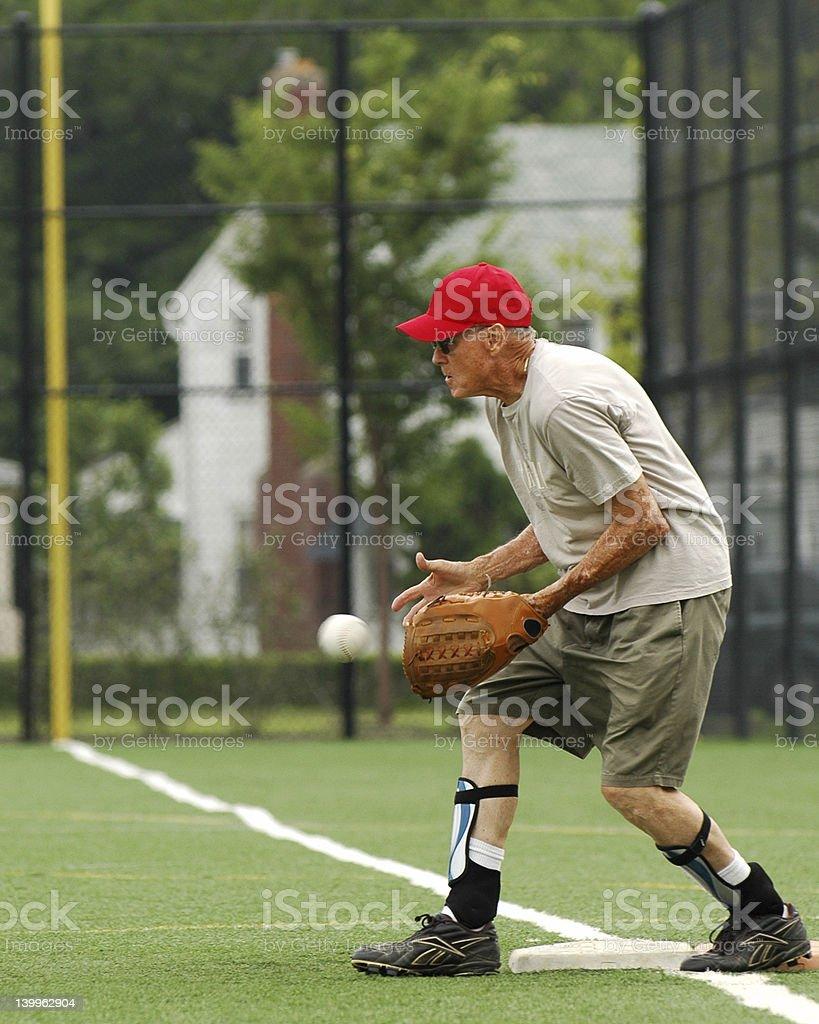 Senior Baseman stock photo