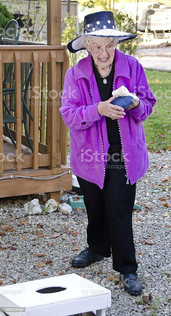 Senior Beanbag Toss stock photo
