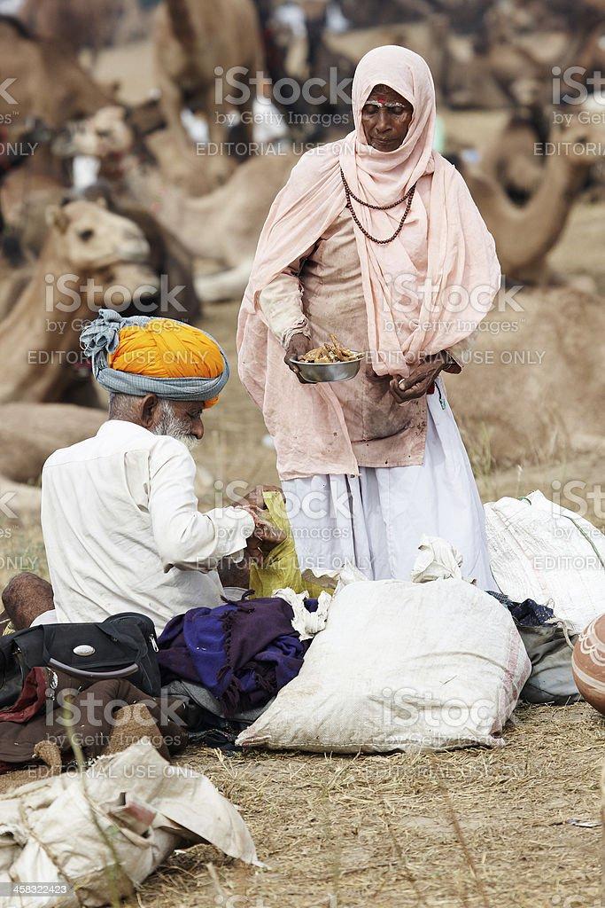 Senior bedouin couple royalty-free stock photo