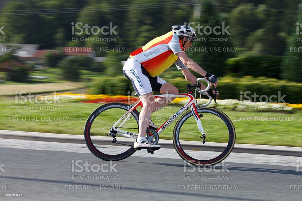 Senior bicycle enthusiast stock photo