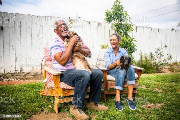 Senior black couple with their dogs picture id1058486630?b=1&k=6&m=1058486630&s=612x612&h=u2qqfmkgdlchquo49sga8xuplcwlb0g4iccvinfmqxa=