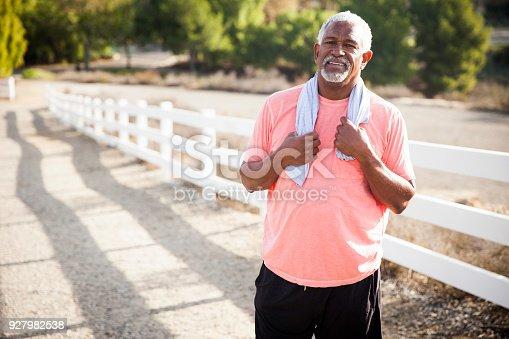 istock Senior Black Man After Workout 927982538