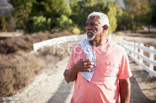 istock Senior Black Man After Workout 927982592