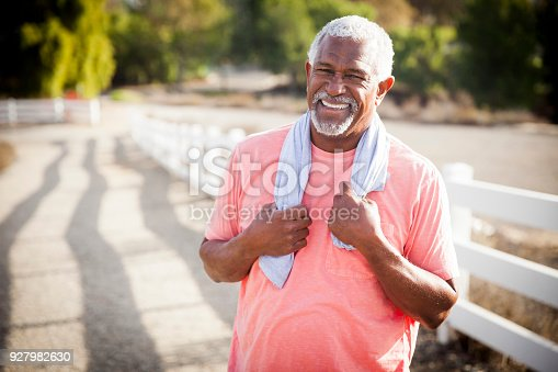 istock Senior Black Man After Workout 927982630